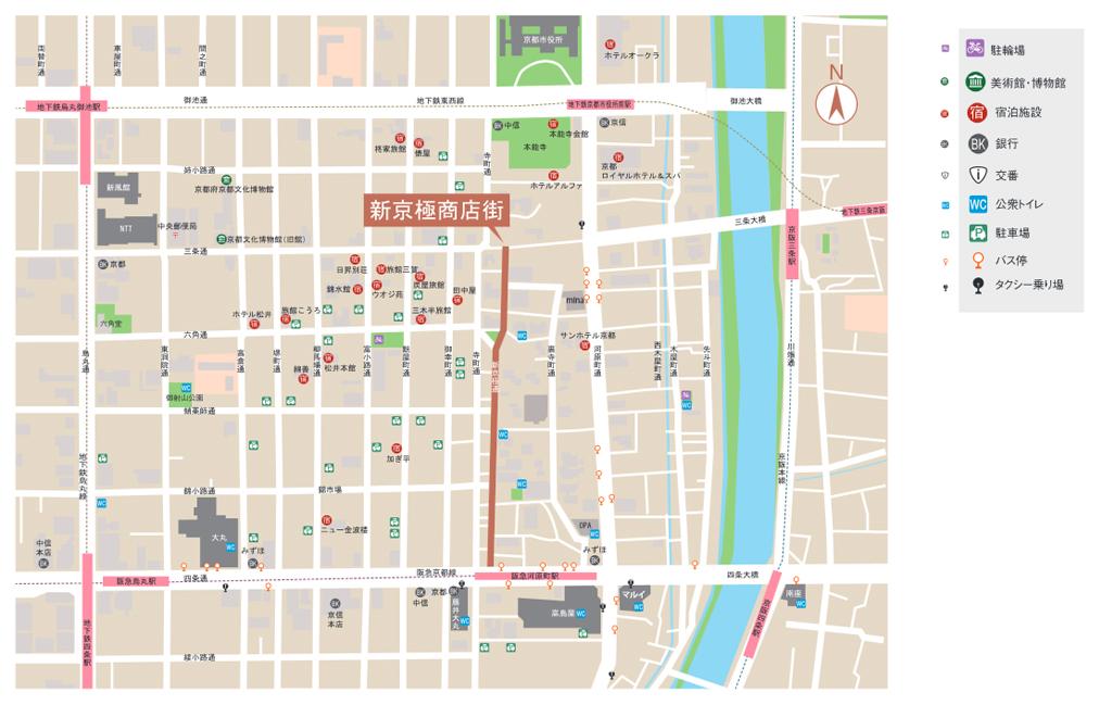 新京極商店街アクセスマップ